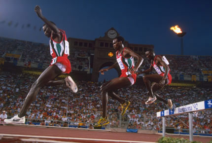 Mathew Birir, Patrick Sang, William Mutwol 1988 Olympics