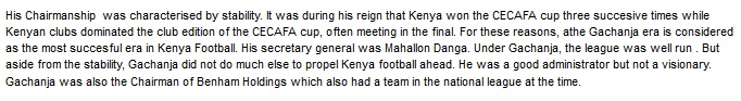 Clement Gachanja Kenya Football
