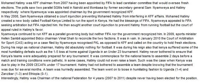 Mohamed Hatimy Kenya Footall