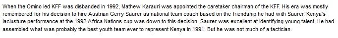 Mathew Adams Karauri Kenya Football