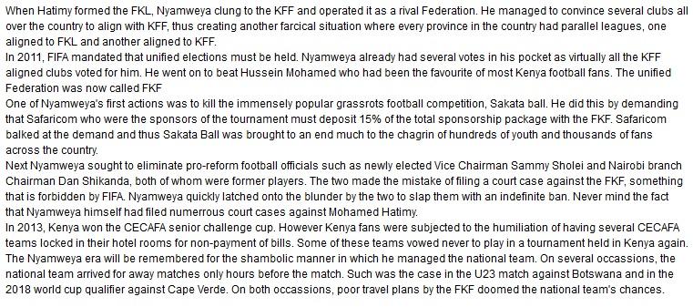 Sam Nyamweya Kenya Football