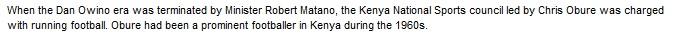 Chris Obure Kenya Football