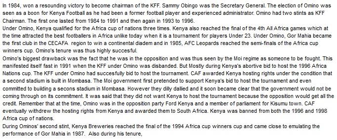 Joab Omino Job Omino Kenya Football