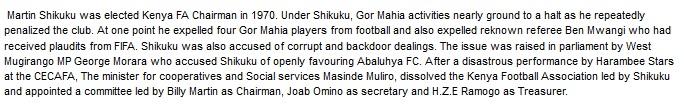 Martin Shikuku Kenya Football Asscosiation