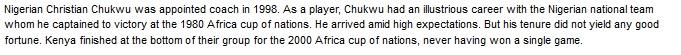 Christian Chukwu Kenya coach