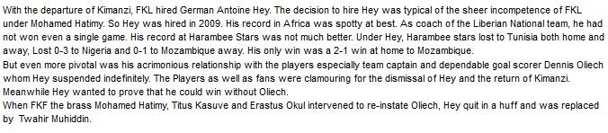 Antoine Hey Kenya coach