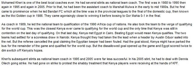 Mohamed Kheri Kenya coach