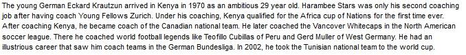 Eckard Krautzun Kenya coach
