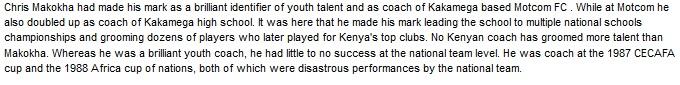 Chris Makokha Kenya coach