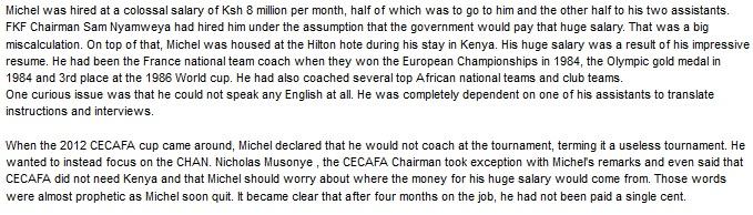 Henri Michel Kenya harambee stars coach