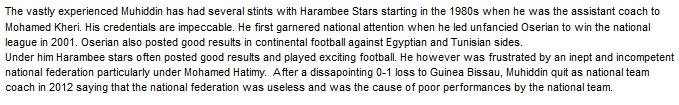 Twahir Muhiddin Kenya Harambee stars coach