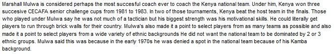 Marshall Mulwa Kenya coach