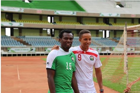 Former Gor Mahia skipper David Owino and Ismail Gonzalez