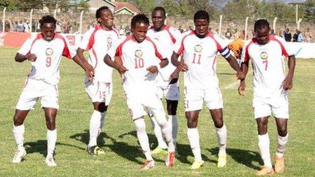 Kenya celebrate after CECAFA win