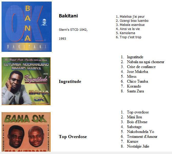 Simaro Bana OK discography