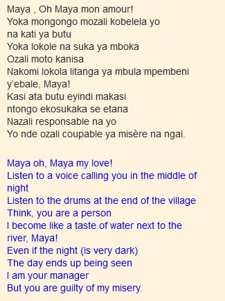 Maya by Simaro and TPOK Jazz (Lyrics and Translation