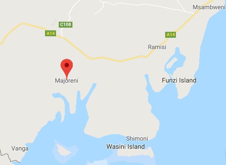 Funzi Wasini map