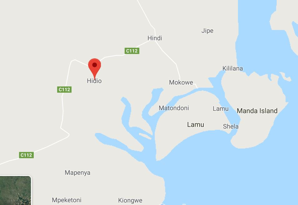 Manda Island Map