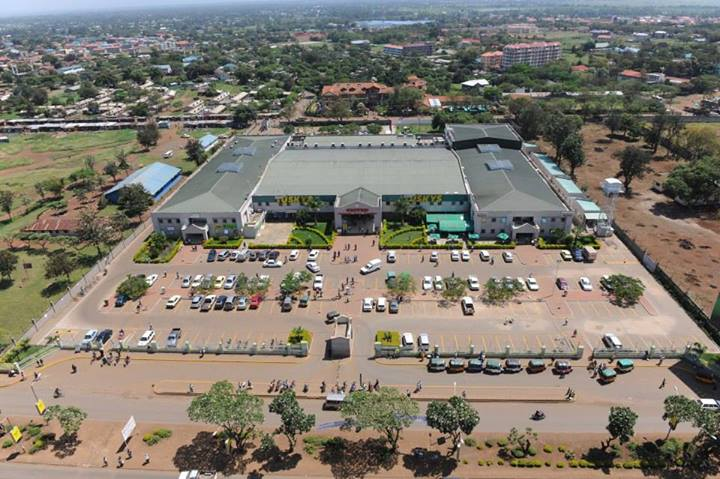 Aerial view of United mall Kisumu