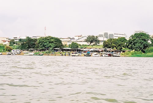 Kisumu City as viewed from Lake Victoria