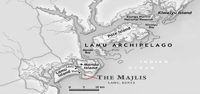Map of Lamu Archipelago