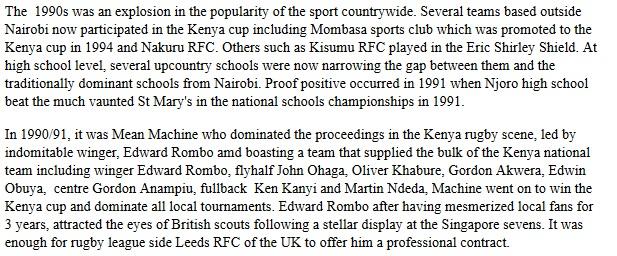 Mean Machine RFC, Edward Rombo, Martin Ndeda, Oliver Khabure
