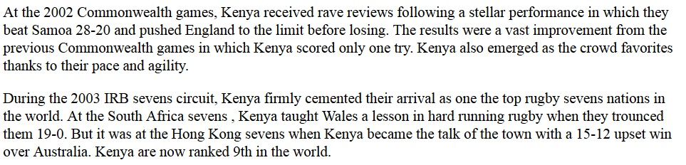 kenya rugby 2002 commonwealth