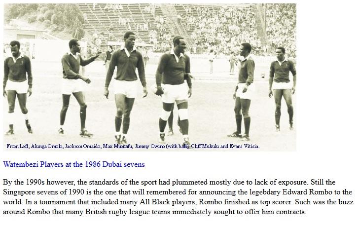 Watembezi dubai sevens 1986